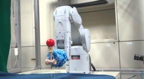 Robot Playing Kendama